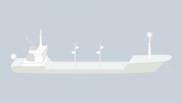 Sound signals of a vessel over 100 m at anchor in restricted visibility